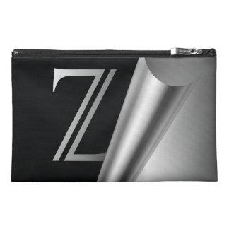 """Steel Peel Monogram """"Z"""" Travel Accessories Bags"""