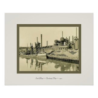 Steel Plant~Cleveland, Ohio~1901~ Vintage Photo Poster