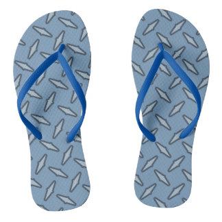 Steel Plate Blue Flip Flops