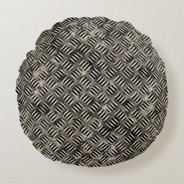"Professional Business ""Steel Plate"" Effect Comfy Round Pillow"