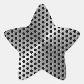 Steel Plate Star Sticker