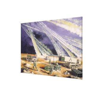 Steel Rain Desert Storm by Frank M. Thomas Canvas Print