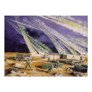 Steel Rain Desert Storm Missles by Frank M. Thomas Poster