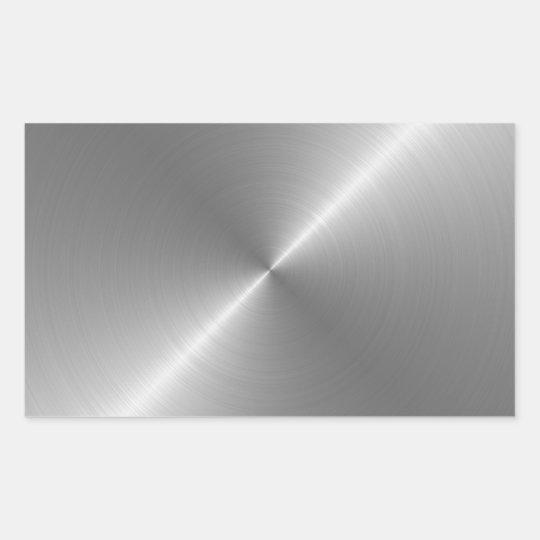 Steel Rectangular Sticker