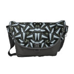 Steel Ribbon Fractal Abstract with Steel Accent Courier Bag