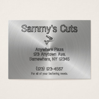 Steel Silver Business Card Barber Shop