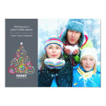 Steel Sparkling Christmas Tree Photo Card Personalized Announcements