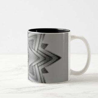 Steel Star Burst Two-Tone Coffee Mug