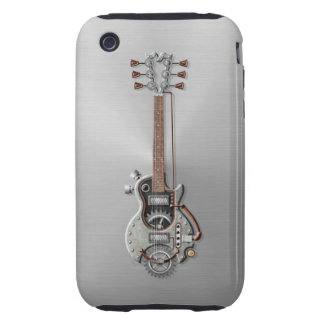 Steel Steampunk Guitar iPhone 3 Tough Covers