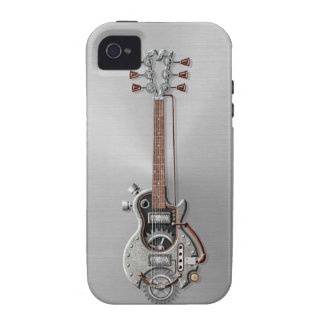 Steel Steampunk Guitar iPhone 4/4S Cases