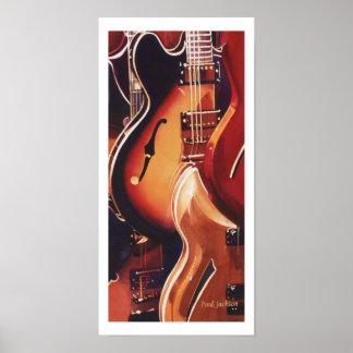 """Steel Strings"" Guitar Watercolor Art Print"
