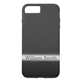 Steel striped carbon fiber iPhone 7 plus case