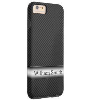 Steel striped carbon fiber tough iPhone 6 plus case
