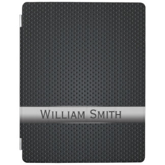 Steel striped dark metal iPad smart cover