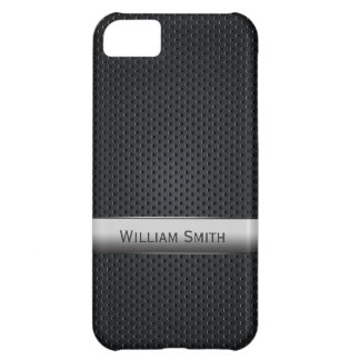 Steel striped dark metal iPhone 5C cover
