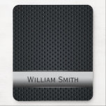 "Steel striped dark metal mouse pad<br><div class=""desc"">Steel striped with dark metal with Custom Name for men&#39;s A classy and unique design for men,  made ​​of steel and dark metal it will make you a man of class. Personalize with your name and surname to make a single object!</div>"