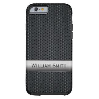 Steel striped dark metal tough iPhone 6 case