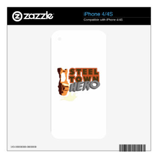 Steel Town Hero Skins For The iPhone 4