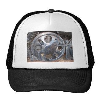 Steel Train Wheel Railroad Steam Engine Locomotive Trucker Hat