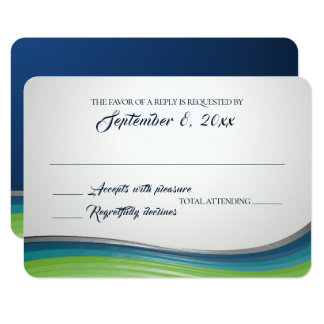 Steel Wave Blue and Green Response Card