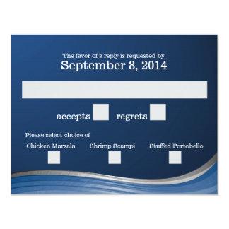 Steel Wave Blue RSVP Card