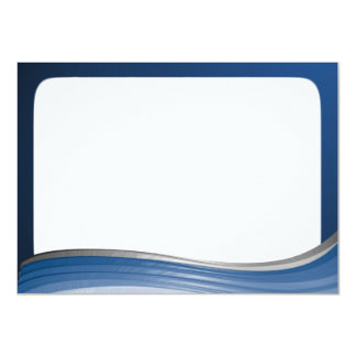 Steel Wave Thank You Flat Note Card