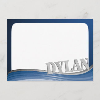 Steel Wave with Name Dylan Flat Note