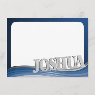 Steel Wave with Name Joshua Flat Note