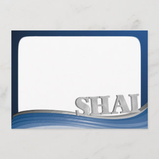 Steel Wave with Name Shai Flat Note