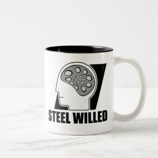 Steel Willed Two-Tone Coffee Mug