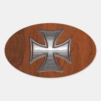Steel Wood Maltese Stickers