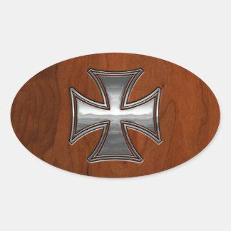 Steel Wood Maltese Sticker