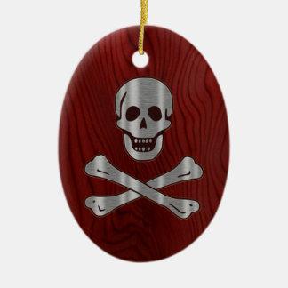 Steel Wood Pirate Ornaments