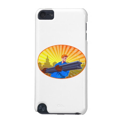 Steel Worker Carry I-Beam Retro Oval iPod Touch 5G Cover
