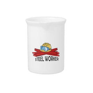 STEEL WORKER BEVERAGE PITCHER
