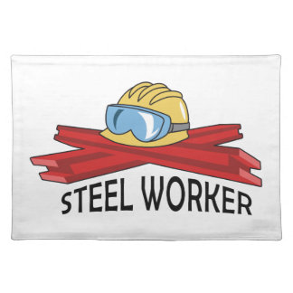 STEEL WORKER CLOTH PLACE MAT