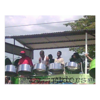 SteelBand at the Carnival Postcard
