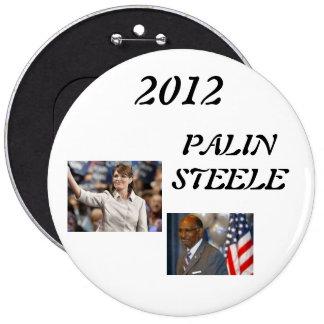 steele 1, palin 2012, 2012, PALINSTEELE Pinback Button