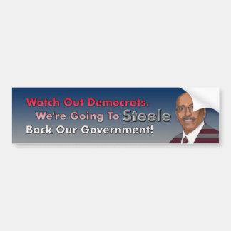 Steele Back Our Government Bumper Sticker Car Bumper Sticker