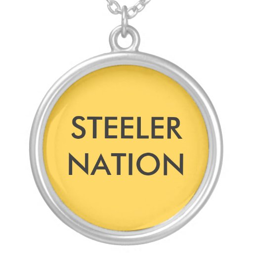 STEELER NATION ROUND PENDANT NECKLACE