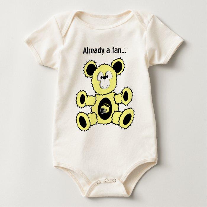 Steelers bear Already a fan... baby Baby Bodysuit