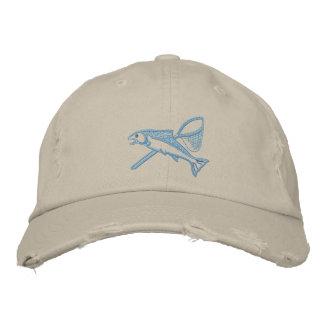Steelhead & Net Embroidered Hat