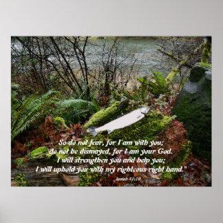 Steelhead Trout & River Isaiah 41:10 Print