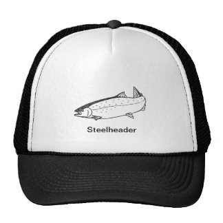 Steelheader fishing cap trucker hat