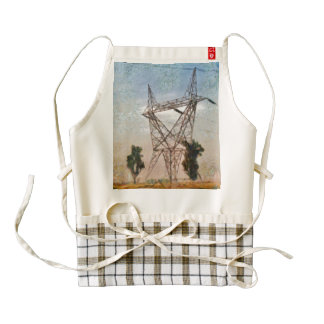 Steeling up for a storm zazzle HEART apron