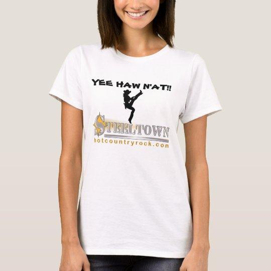 Steeltown YEE HAW N'AT! Ladies Baby Doll T-Shirt