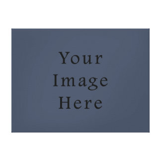 Steely Dark Blue Color Trend Blank Template Canvas Print