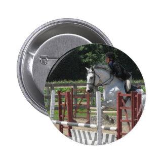Steely Grey Pony Button