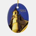 steenant, Antwerp, Belgium Double-Sided Oval Ceramic Christmas Ornament