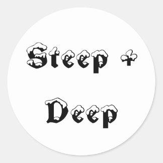 Steep + Deep Classic Round Sticker
